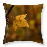 Little Yellow Leaf Throw Pillow
