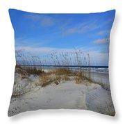 Little Talbot Sand Dunes Throw Pillow