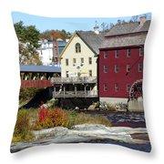 Littleton Gristmill Throw Pillow