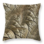 Litz Wire Abstract Throw Pillow