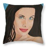 Liv Tyler Painting Portrait Throw Pillow