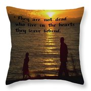 Live In The Heart Throw Pillow