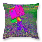 Live Life In Full Color Throw Pillow