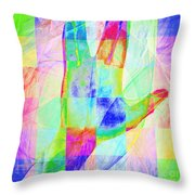 Live Long And Prosper 20150302v1 Color Squares Sq Throw Pillow