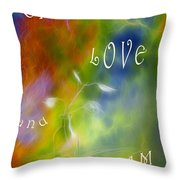 Live Love And Dream Throw Pillow