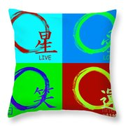 Live Love Luck Laugh Throw Pillow
