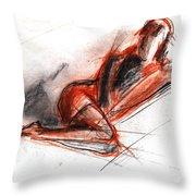 Live Model Study 3 Throw Pillow