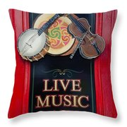 Live Music Daily Throw Pillow