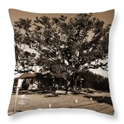 Live Oak Outer Banks Throw Pillow