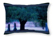 Live Oak Tree In Cemetery Throw Pillow