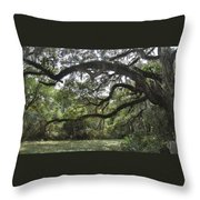 Live Oaks And Spanish Moss A Throw Pillow