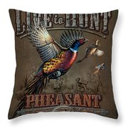 Live To Hunt Pheasants Throw Pillow