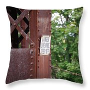 Live Wire Keep Off Throw Pillow