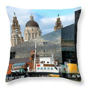Liverpool Docklands Throw Pillow