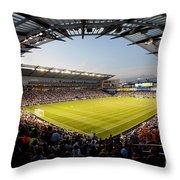 Livestrong Sporting Park Kansas City Throw Pillow