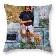 Living And Loving Art Throw Pillow