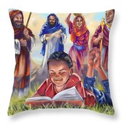 Living Bible Throw Pillow by Tamer and Cindy Elsharouni