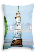 Living By The Sea - Pacific Ocean Throw Pillow