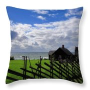 Living By The Sea Throw Pillow