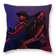 Living Colour Painting Throw Pillow