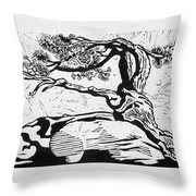Living Fossil Throw Pillow