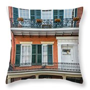 Living High In The French Quarter Throw Pillow