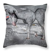 Living In A Pinched World Throw Pillow