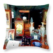 Living In Past Glory  Throw Pillow
