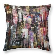 Living In The City Throw Pillow