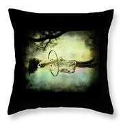 Living In The Fear Throw Pillow