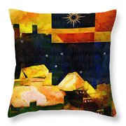 Living In The Global Village Throw Pillow