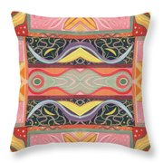 Living In The Pink 1 - Tjod X V I Arrangement Throw Pillow