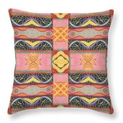 Living In The Pink 2 - Tjod X V I Arrangement Throw Pillow
