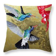 Living Jewels Throw Pillow