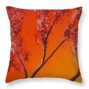 Living Loving Tree Top Left Throw Pillow