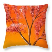 Living Loving Tree Top Right Throw Pillow
