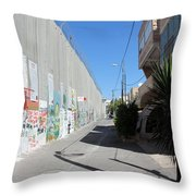 Living Next To Wall Throw Pillow