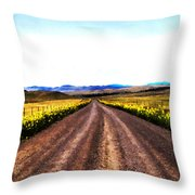 Living On Back Roads Throw Pillow