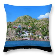 Living On The Edge -- The Battery - St. John's Nl Throw Pillow
