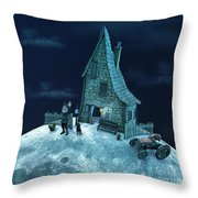 Living On The Moon Throw Pillow