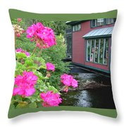 Living Over The River Throw Pillow