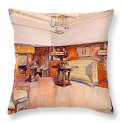 Living Room, 1905 Throw Pillow by Alfred Grenander