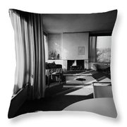 Living Room In Mr. And Mrs. Walter Gropius' House Throw Pillow