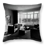 Living Room In The Ny Home Of Edward M. M Throw Pillow