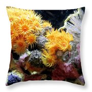The Living Sea Throw Pillow