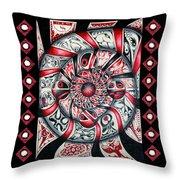 Living Spiral Throw Pillow