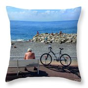 Living The Dream.nice.france Throw Pillow