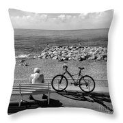 Living The Dream.nice.france.bw Throw Pillow