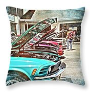 Living Through The Past Throw Pillow