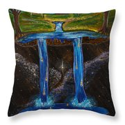 Living Water Throw Pillow by Cassie Sears
